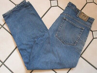 $14.99 • Buy MENS FULL BLUE FLANNEL LINED JEANS SIZE 38x30 (actual 38x29 1/2)