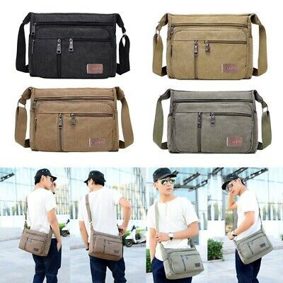 AU16.90 • Buy Mens Utility Cross Body Messenger Shoulder BAG Travel Pouch Handbag Wallet