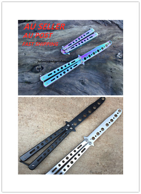 AU14.19 • Buy New Rainbow Butterfly Knife Metal Folding Practice Trainer Training Tool CSGO