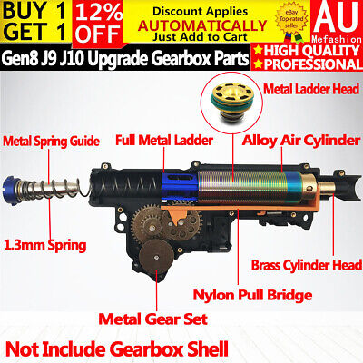 AU69.99 • Buy Upgrade Gearbox Metal Spare Part Cylinder Set For Gen8 9 10 M4A1 ACR Gel Blaster