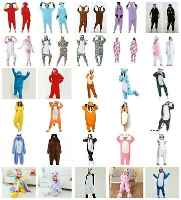 AU23.99 • Buy Cartoon Animal Pokemon Unicorn Sloth Cat Adult Onesie0 Kigurumi Pyjamas Costume