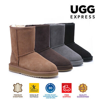 AU55.30 • Buy UGG Express Selected Unisex 3/4 Classic UGG Boots,Twin Face Sheepskin