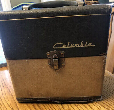 $49.99 • Buy Columbia Vintage 45's 45 Record Storage Keeper Holder Box Case Wooden W/Singles!