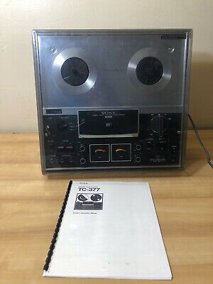 $299.95 • Buy Vintage Sony Tapecorder TC-377 3 Head Stereo Reel To Reel Tape Player Recorder