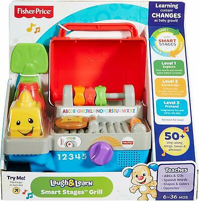 £18.99 • Buy Fisher Price Toys Laugh And Learn Smart Stages BBQ Grill | Includes Smart Stages