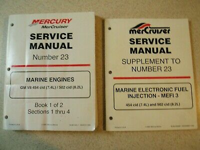 $24.99 • Buy MerCruiser Service Manual 23 Marine Engines Book 1 & Supplement To Manual 23