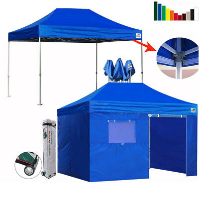 $549.95 • Buy Ez Pop Up Canopy 10x15  Commercial Outdoor Patio Gazebo Party Fair Shelter Tent