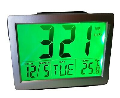 AU28 • Buy New Digital LCD Alarm Clock Night Light Temperature Timer Day Date New In Box