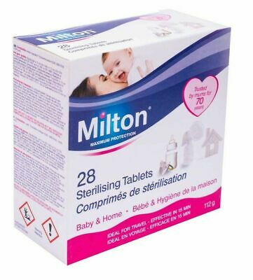 Milton 28 Sterilising Tablets Maximum Protection For Baby & Home Free P&P • 3.99£
