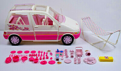 $50 • Buy *RARE* Vintage 1995 Mattel Barbie Picnic Mini Van Comes With Lots Of Accessories