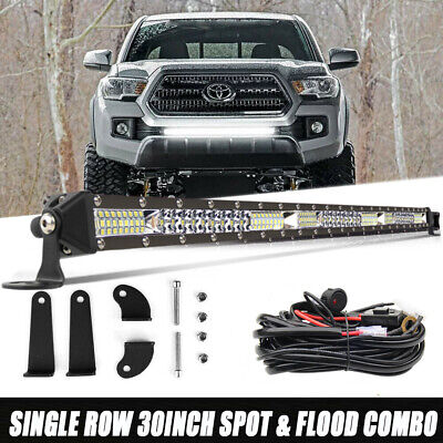 $69.99 • Buy 30  LED Light Bar W/Wiring For 2005-2018 Toyota Tacoma Front Grille Bumper Mount