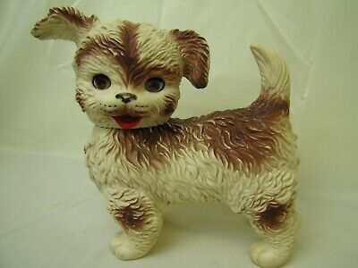 $29.99 • Buy VTG 60s The Edward Mobley Co Squeaky Rubber Puppy Dog Sleep Eyes