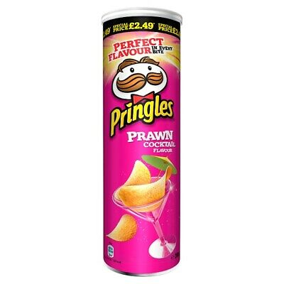 Pringles Prawn Cocktail Flavour 200g X 6 Cans Wholesale Case I Vegetarian  • 24.95£
