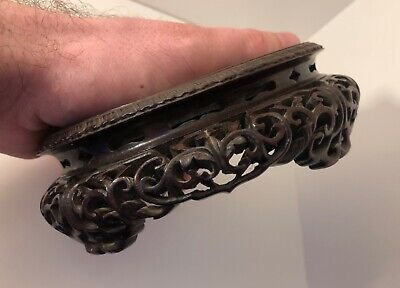 RARE Antique Chinese Qing Dynasty 18/19th Century Carved Hardwood Wood Stand • 449.99£