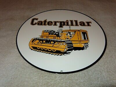 $99.99 • Buy Vintage  Caterpillar Tractor & Farm Equipment  11 3/4  Metal Gasoline & Oil Sign