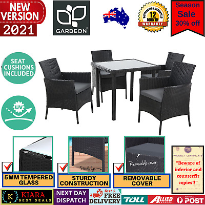 AU529.53 • Buy Outdoor Dining Set Table And Chairs Patio Furniture Wicker Rattan Setting Garden
