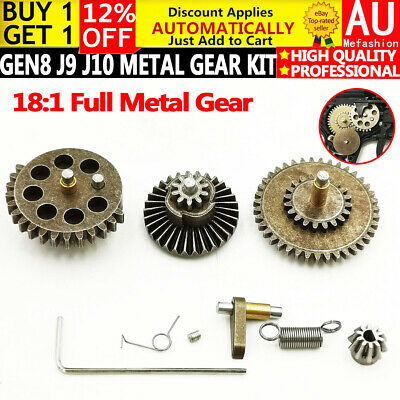 AU16.99 • Buy Upgrade Metal Gear Set Gel Blaster Gearbox Parts Gen8 J8 J9 J10 ACR M4A1 SCAR V2
