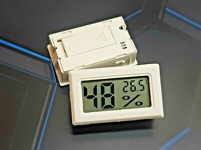 Thermometer & Hygrometer For House, Warehouse, School, Labs With Free Batteries • 3.87£