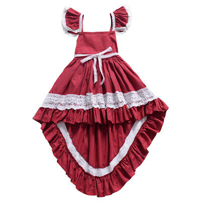 Minnie Mouse Baby Kids Girls Birthday Party Dress Costume Tutu Dresses Longshirt • 4.74£