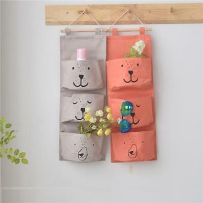 £4.18 • Buy 3 Grids Wall Hanging Storage Bag Sundries Organizer Toys Container Pocket Pouch