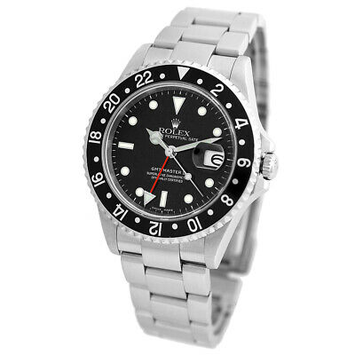 $ CDN14671.10 • Buy ROLEX Stainless Steel GMT Master II Black Bezel 40mm 16710 Box Hang Tag MINTY