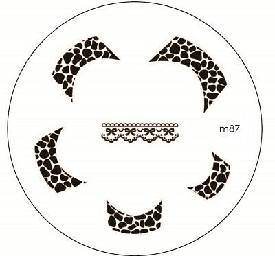 $2.50 • Buy Round Nail Stamping Plates Manicure Pedicure Nail Art 87