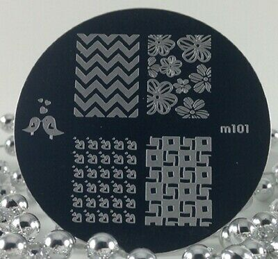$2.50 • Buy Round Nail Stamping Plates Manicure Pedicure Nail Art 101