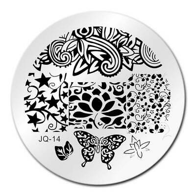 $2.50 • Buy Round Nail Stamping Plates Manicure Pedicure Nail Art Q14