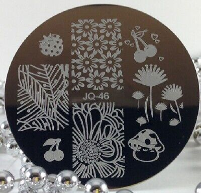 $2.50 • Buy Round Nail Stamping Plates Manicure Pedicure Nail Art Q46