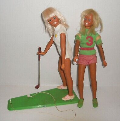 $28.99 • Buy 2 Vintage 1974 70s Kenner DUSTY Doll Tanned Blonde's Golfing +
