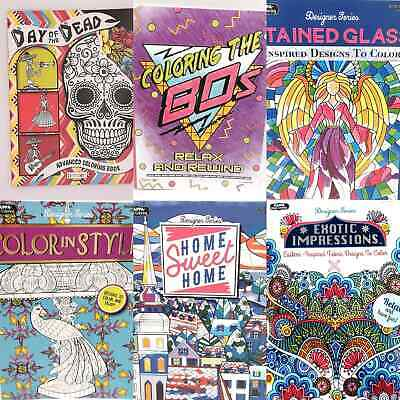 $5.89 • Buy Adult COLORING BOOKS, DOT To DOT, MAZES, COLOR By NUMBER, Relaxing, Anti-Stress