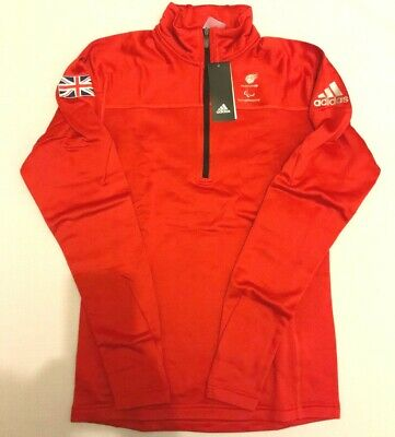 £36 • Buy Adidas Red Team GB Jumper Fleece Mens Womens Official Olympic Latest Athlete Kit