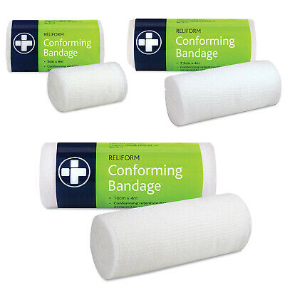 £2.55 • Buy Reliance Reliform 4m White Conforming Stretch Bandage First Aid Wound Dressing