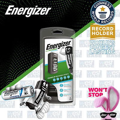 Energizer UNIVERSAL AA AAA C D 9V Battery Charger Rechargeable Batteries LCD #1 • 20.79£