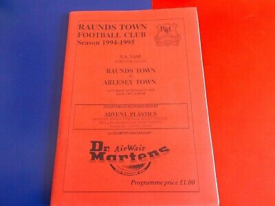 1994-95 Fa Vase Semi-final Raunds Town V Arlesey Town • 1.50£