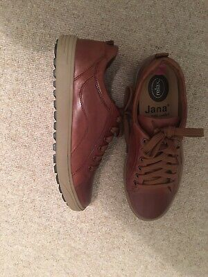 Jana Relax Leather  Trainer  / Shoe Tan Size 5 H Bnwt Rrp Was£59 • 35£