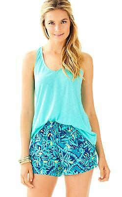 $44.81 • Buy Lilly Pulitzer NEW Womens Size Small Katia Shorts Midnight Cove Blue Green $64