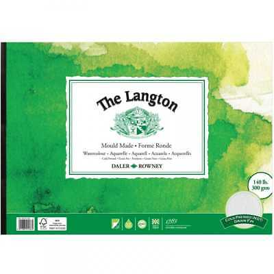 Daler Rowney Langton Watercolour Gummed Pad - NOT - A4 • 12.95£