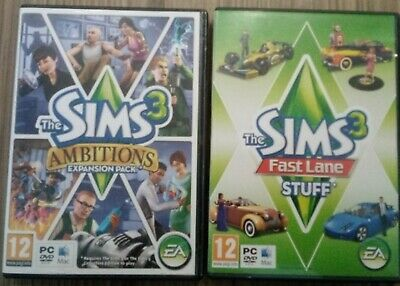 The Sims 3 Fast Lane Stuff And Ambitions Expansion Pack  Set Listing 2a • 6.99£