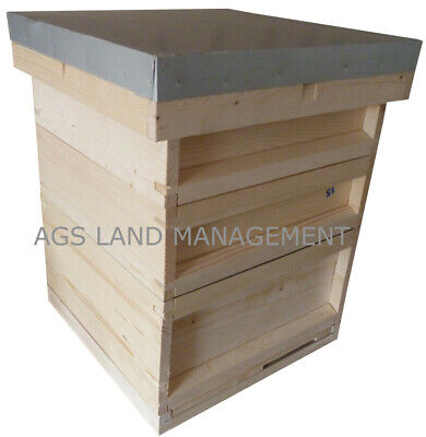 🐝National Bee Hive With Brood Box And Two Supers. Beekeeping Beehive Kit  Hives • 124.99£