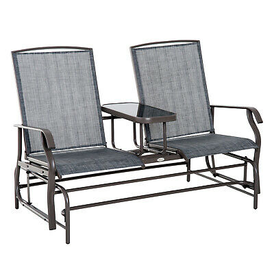 £101.99 • Buy Outsunny 2 Seater Rocker Double Rocking Chair Lounger Outdoor Garden Furniture