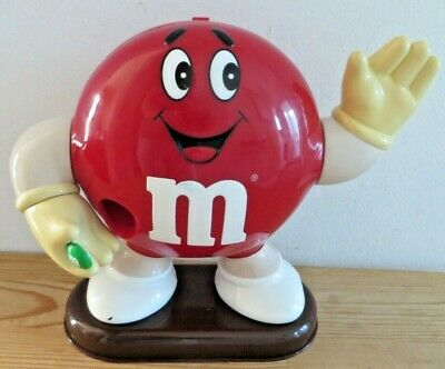 Vintage M&Ms Collectable Red Sweets Chocolate Dispenser - Working • 8.99£