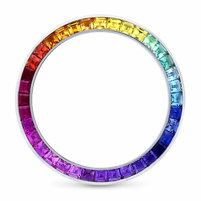 $ CDN1907.49 • Buy Colored Rainbow Design Stone Bezel Fits Rolex Daytona, Yachtmaster 40mm 18kw