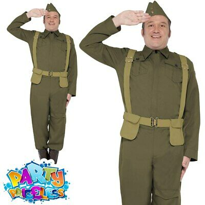 £30.99 • Buy Mens WW2 Home Guard Private Costume Dads Army Uniform Fancy Dress Outfit