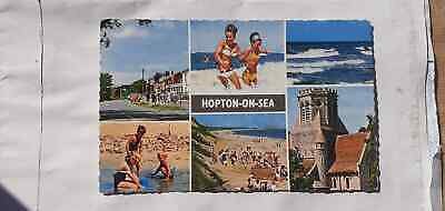 Vintage Postcard,seaside,castle,life,Hopton-on-Sea,1960,Great Yarmouth,posted • 10.88£