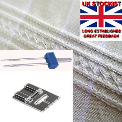 SEWING MACHINE PINTUCK FOOT + TWIN NEEDLE  Sp/C5 • 2.99£