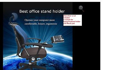 $89.99 • Buy Ergonomic Laptop/keyboard/mouse Stand/mount/holderfor Chair/office-Chrome-new