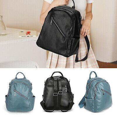 Women Ladies Backpack Travel Shoulder Bag Leather Flap Rucksack School HandbagUK • 7.59£