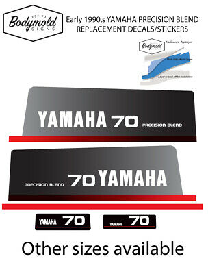 AU79 • Buy YAMAHA 70hp 1990's PRECISION BLEND  Replacement Outboard Decals