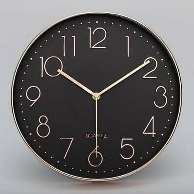 AU29.99 • Buy Wall Clock Quartz Round Wall Clock Silent Non Ticking Battery Operated 12 Inch